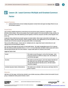 lcm and gcf lesson plans  worksheets reviewed by teachers least common multiple and greatest common factor