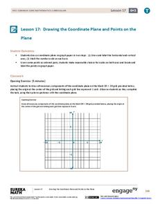 Drawing the Coordinate Plane and Points on the Plane Lesson Plan