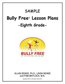 Bully Free Lesson Plans—Eighth Grade Lesson Plan