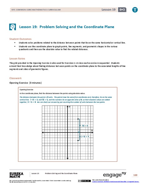 Problem Solving and the Coordinate Plane Assessment