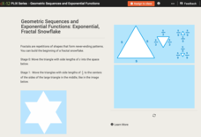 Exponential Growth: Exponential, Fractal Snowflakes Interactive