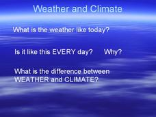 Weather and Climate Presentation