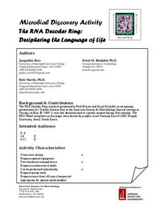 The RNA Decoder Ring: Deciphering the Language of Life Lesson Plan