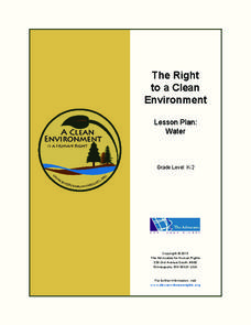 The Right to a Clean Environment: Water Lesson Plan