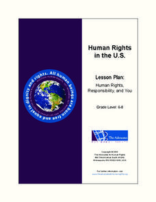 Human Rights in the U.S. Lesson Plan
