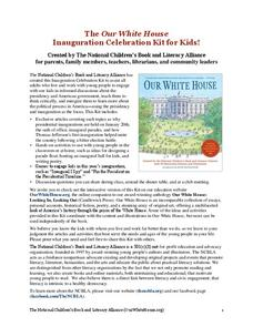 The Our White House Inauguration Celebration Kit for Kids! Lesson Plan