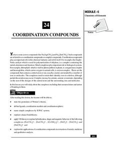 Coordination Compounds Handouts & Reference