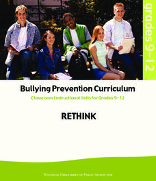 RETHINK: Bullying Prevention Curriculum Unit