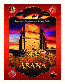 Arabia: Educator's Resource and Activity Guide Unit