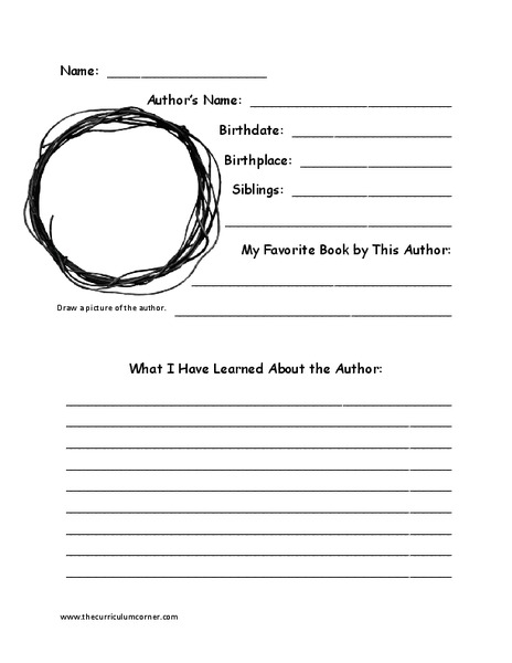 Eric Carle Biography Organizer Graphic Organizer