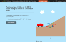 Relationships of Sides in 30-60-90 Right Triangles: Truck on a Mountain Road Interactive