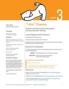 """I Am"" Poems Lesson Plan"