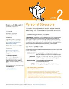 Personal Stressors Lesson Plan