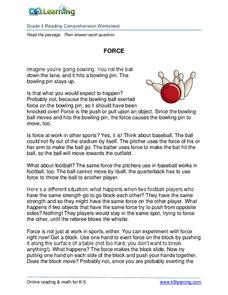 Force Worksheet
