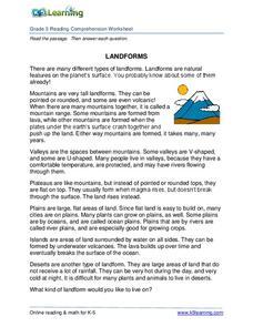 Landforms Lesson Plans & Worksheets | Lesson Planet
