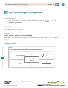 Writing Division Expressions II Assessment