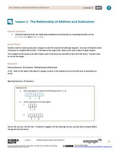 The Relationship of Addition and Subtraction Assessment