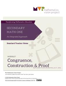 Congruence, Construction and Proof Unit