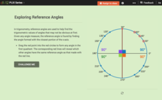 Reference Angles and Angles in the Unit Circle: Exploring Reference Angles Interactive