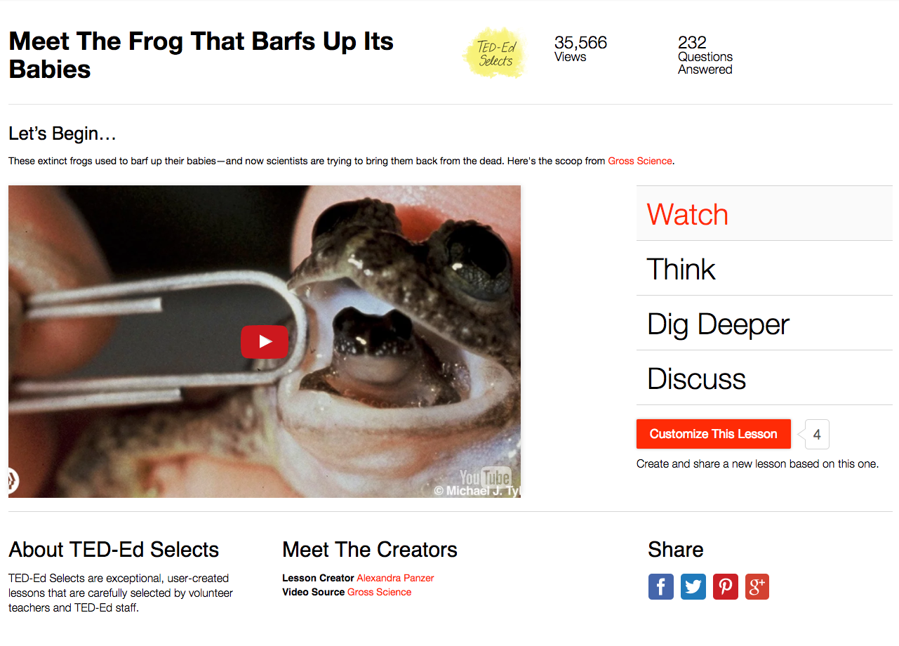Meet The Frog That Barfs Up Its Babies Video