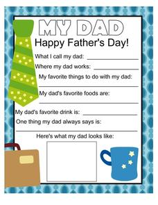 Father's Day Printables & Template