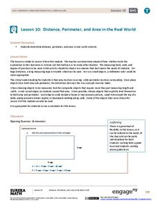 Distance, Perimeter, and Area in the Real World Assessment