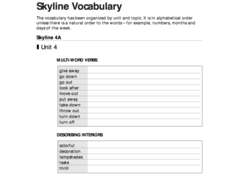 Multi-Word Verbs and Describing Interiors Worksheet