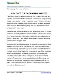 why does the ocean have waves worksheet for 4th grade lesson planet. Black Bedroom Furniture Sets. Home Design Ideas