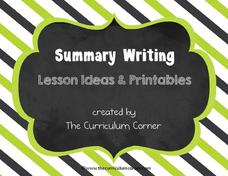 Summary Writing Graphic Organizer
