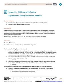 Writing and Evaluating Expressions—Multiplication and Addition Assessment