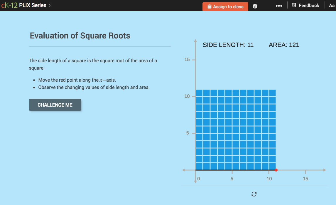 Evaluation of Square Roots Interactive