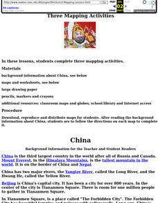 China: Dim Sum: 3 Mapping Lessons Lesson Plan