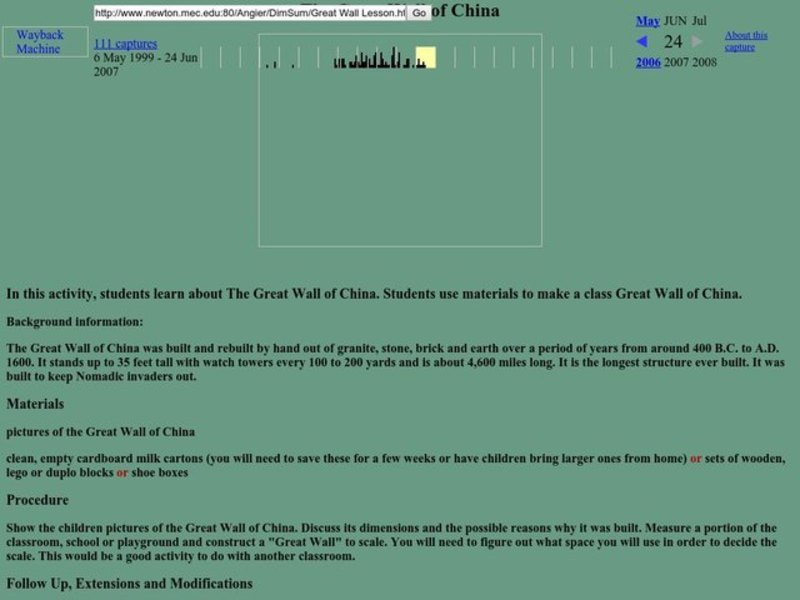 The Great Wall of China Lesson Lesson Plan