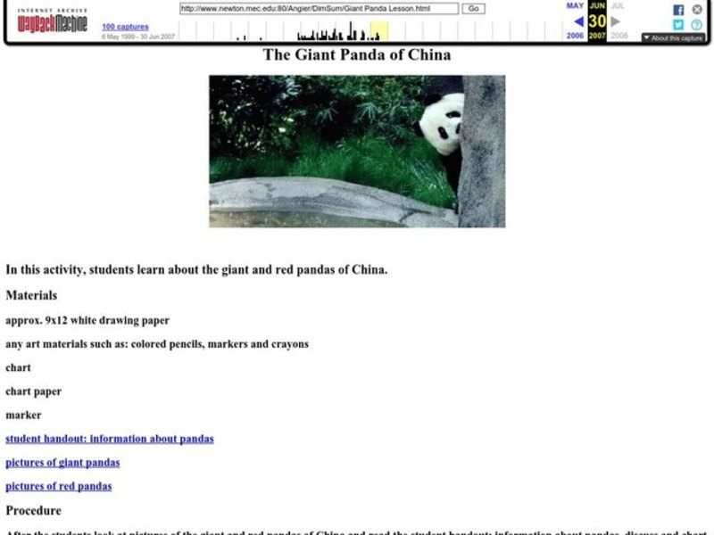 China: Dim Sum: The Giant Panda of China Lesson Lesson Plan