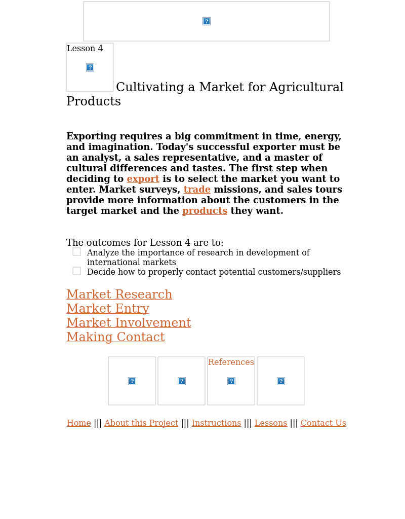 Agribusiness in a Global Environment Lesson 4 Lesson Plan