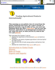 Trading Agricultural Products Internationally Lesson Plan