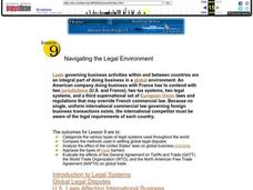 Navigating the Legal Environment Lesson Plan