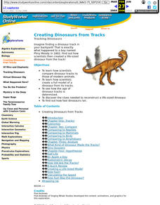 Creating Dinosaurs from Tracks Lesson Plan
