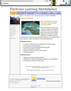 I - Search... The World: World Cultures, Global History Lesson Plan