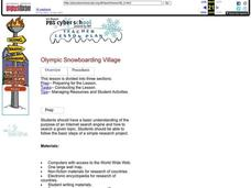 Olympic Snowboarding Village Lesson Plan