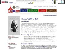 Chaucer's Wife of Bath Lesson Plan