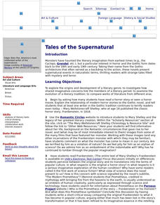 Tales of the Supernatural Lesson Plan
