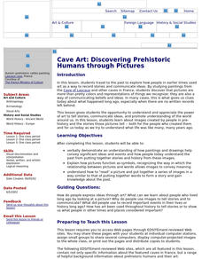 Cave Art: Discovering Prehistoric Humans through Pictures Lesson Plan