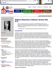 Native American Cultures Across the U.S. Lesson Plan