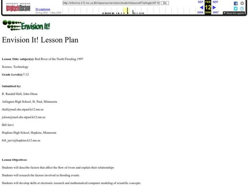 Red River of the North Flooding 1997 Lesson Plan