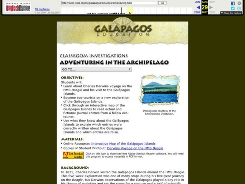 Adventuring in the Archipelago Lesson Plan