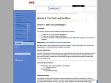 Solar and Lunar Eclipses Lesson Plan