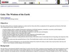 Gaia: The Wisdom of the Earth Lesson Plan