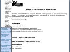 Personal Boundaries Lesson Plan