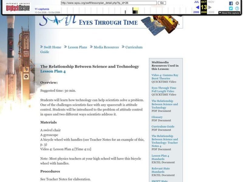 The Relationship Between Science and Technology Lesson Plan